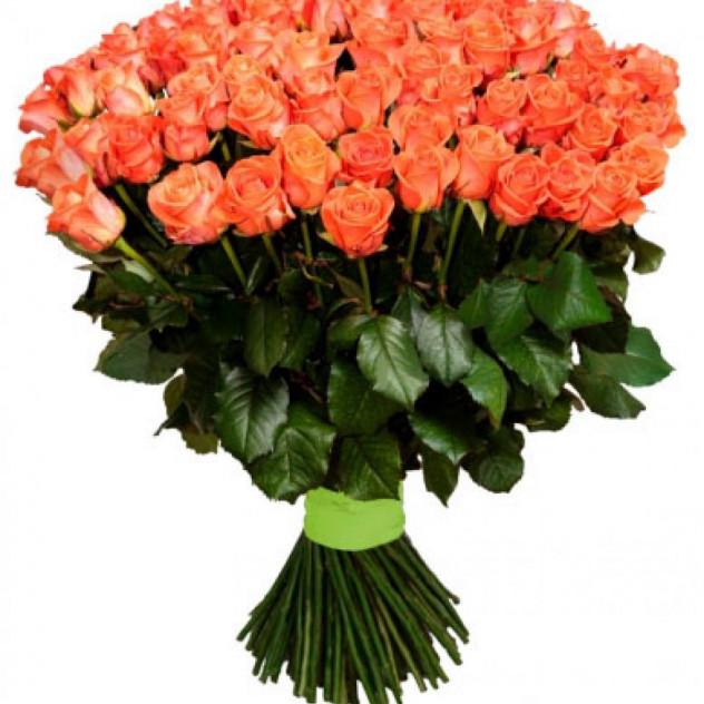 Букет из 101 оранжевой розы